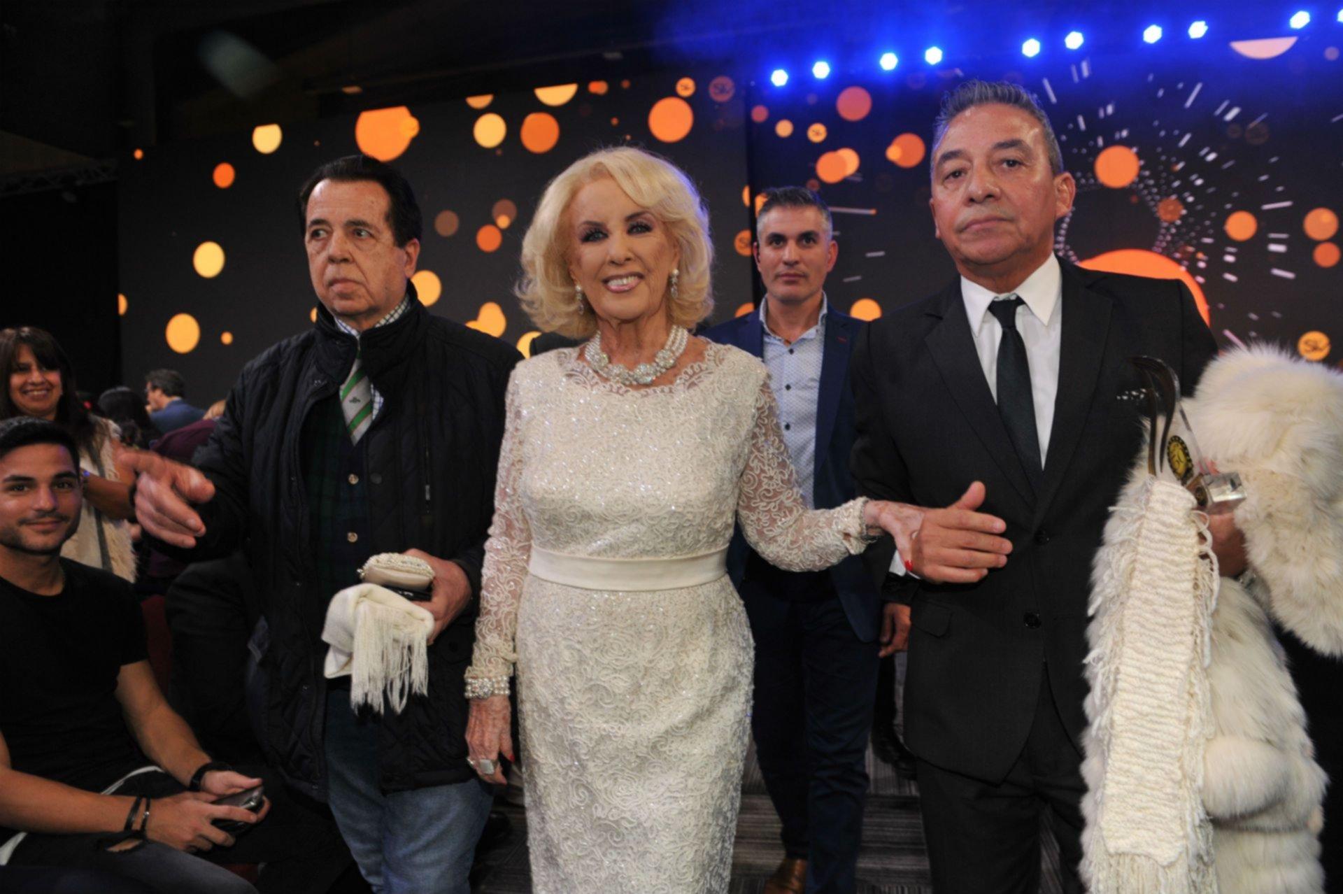 Mirtha con su asesor de imagen, Héctor Vidad Rivas.