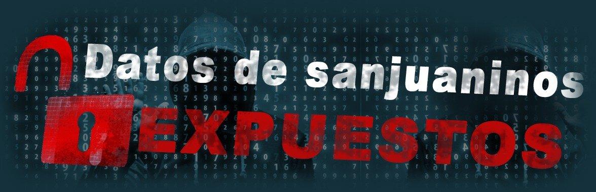 Datos de sanjuaninos expuestos en la web